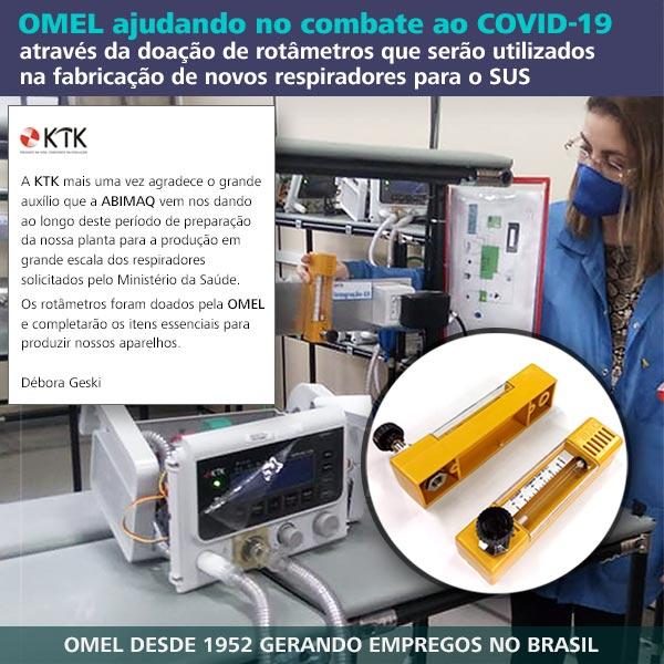 Rotâmetro OMEL na fabricação de respiradores para o combate ao COVID-19