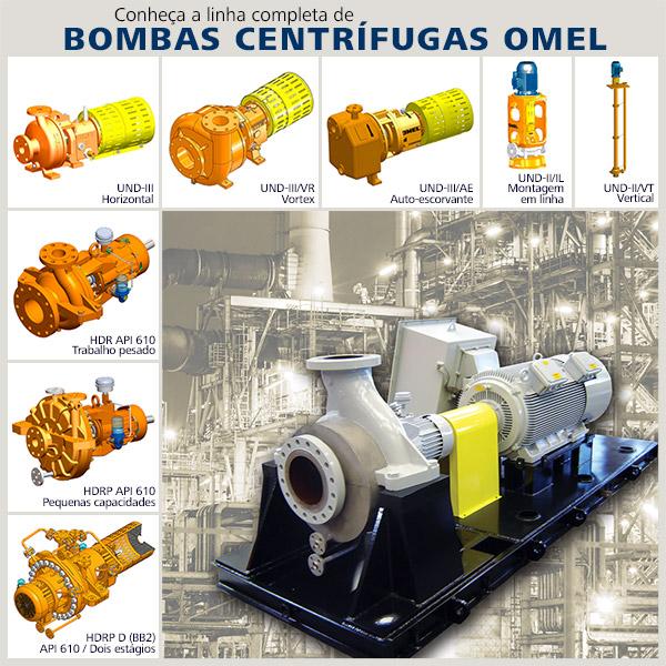Linha de bombas centrífugas OMEL