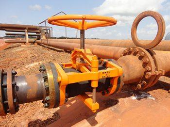 Válvula de mangote aplicação na indústria de mineração