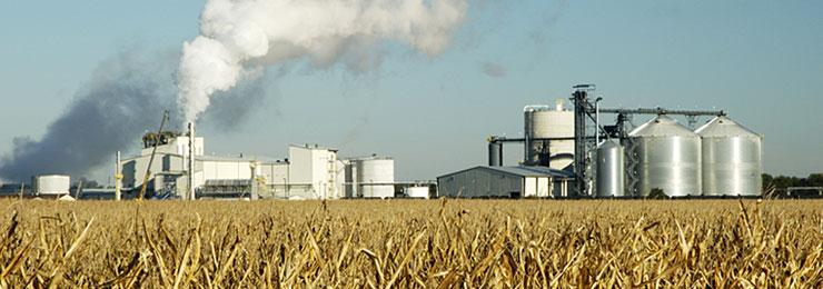 Foto planta de grande porte de biocombustível